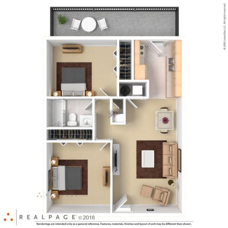 Floor Plans at Royal Gardens Apartments 3D Furnished      3D Furnished
