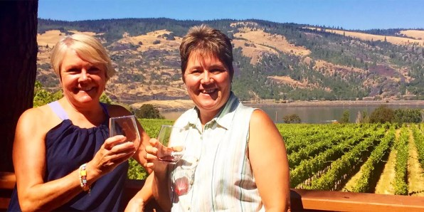 Chris Cook and Vicki Purslow Winery Visits