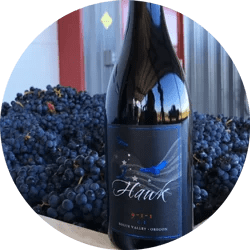 2Hawk Vineyard and Winery 9-1-1 Red Wine Blend and Grapes
