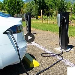 Tesla Charger at 2Hawk Vineyard and Winery