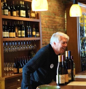 Don Moore Bartending at South Stage Cellars