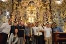 Concierto 25 de Mayo. Capilla San José de Sevilla. Toby Oft y el cuarteto Puerto Rican Trombone Ensemble. Retablo barroco. Sevilla en Mayo. Sevilla turismo.
