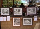 El pintor Hans Hoffman presenta nuevos cuadros en la feria organizada por el Centro Cultural Capinota