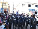 Un escuadrón del batallón ecológico asentado en Santivañez desfila con marcialidad y disciplina