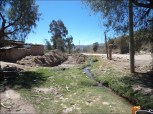 En Chullpa K'asa, a los pocos metros de donde nace el río se construye el canal que recibirá las aguas de los loteamientos