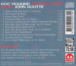 Doc Houlind Ragtime Band meets John Boutté - B