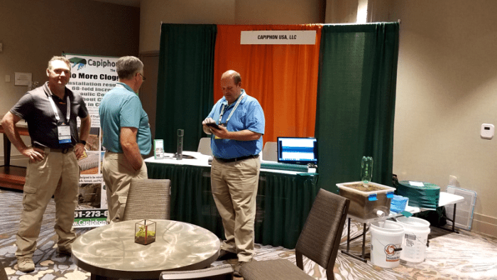 Capiphon USA Booth at the AASHTO Annual Conference, September 2018