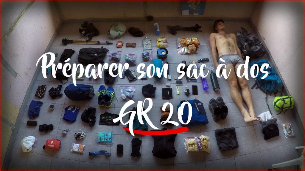 Préparer son sac à dos : GR20