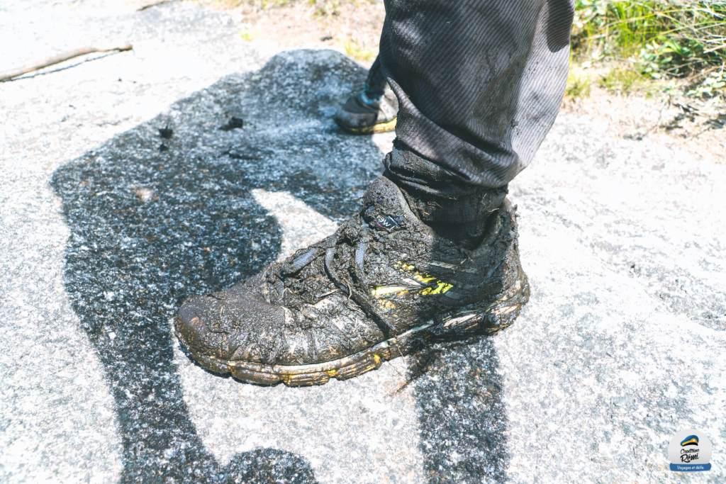 Mes chaussures pleines de boue