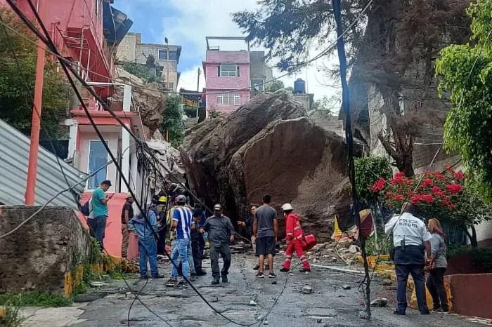 Desgaje en Cerro del Chiquihuite sepultó casas