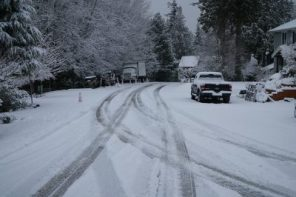 Snowed in road - winter is the most dangerous, but also the cheapest time to relocate.