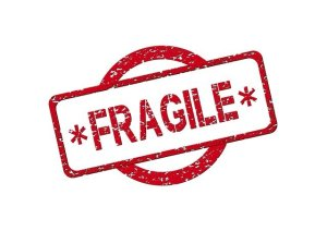 "Label that says ""fragile"" - you should always put this label when you pack your fragile items"