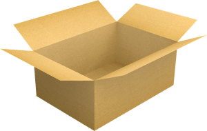 A moving box for packing