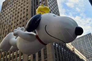 Snoopy floating during the Thanksgiving weekend in New York City.