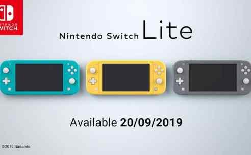 Umboxing oficial de Nintendo Switch Lite y comparación