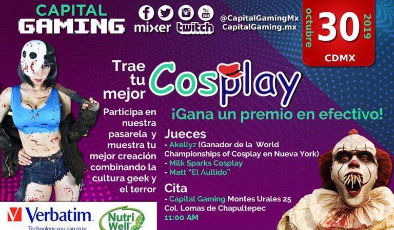 ¡Participa en nuestra pasarela de Cosplay y muestra tu mejor creación combinando la cultura geek y el terror!
