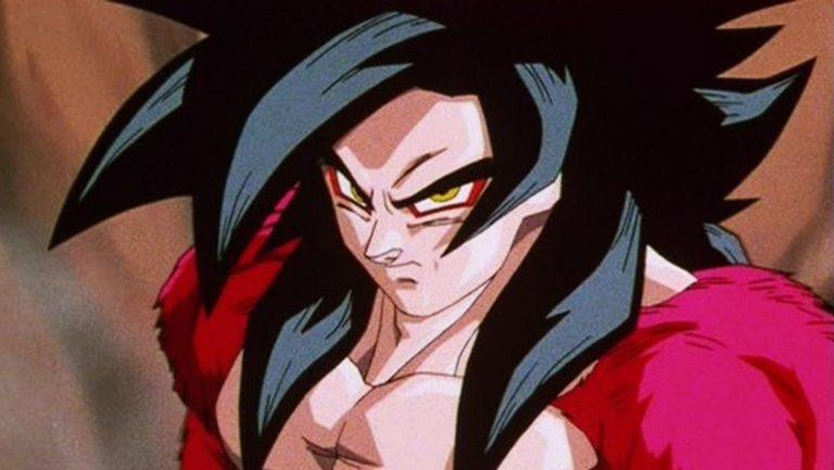 Este es el look de Goku Super Saiyajin 4 como Dios