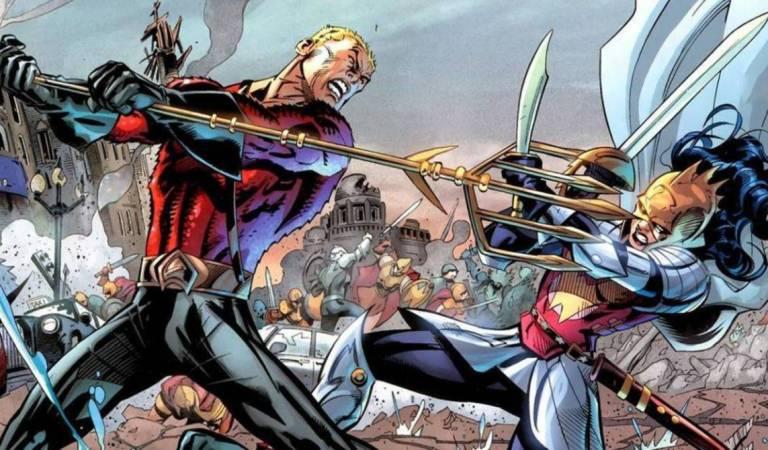Sin pelea entre Atlantes y Amazonas en la película de Flash