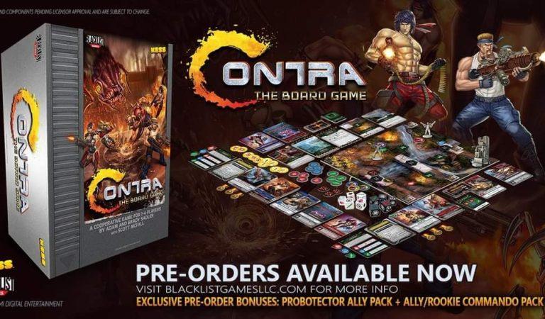 Lanzan juego de mesa del videojuego «Contra»