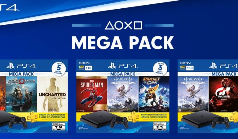PlayStation anuncia Mega Pack's de PS4 para Latinoamérica