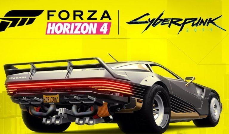 Conoce la colaboración de Forza Horizon 4 con Cyberpunk 2077