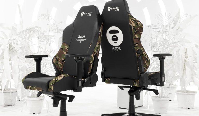 AAPE presenta sus sillas gamer en colaboración con Secretlab