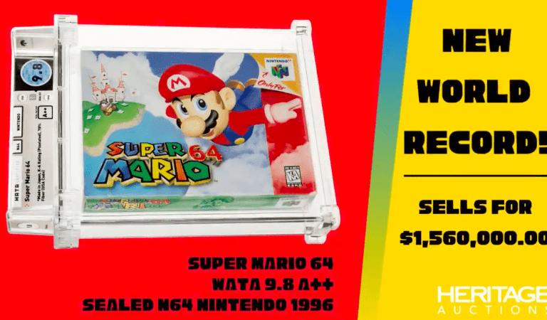 Se rompe un nuevo récord de venta con Super Mario 64