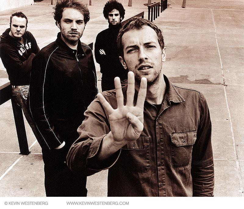 Chris Martin counts noses before the band heads back to the tour bus
