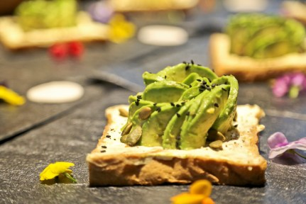 Our second course is this yummy avocado and cream cheese toastie