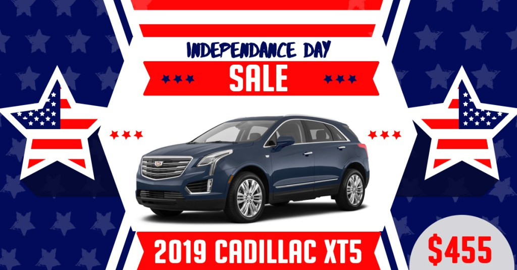 2019 Cadillac XT5 Fourth of July Lease Deal