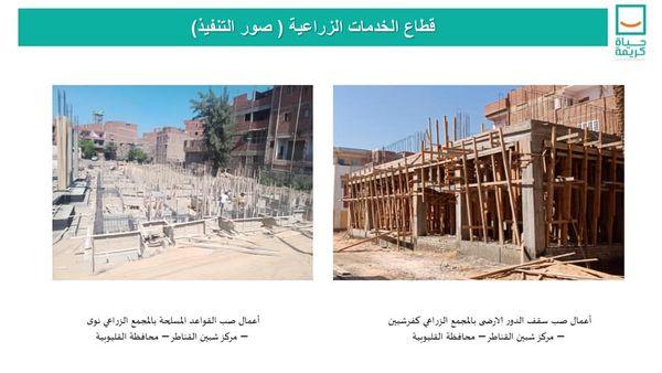 """وزير الإسكان يتابع تنفيذ مشروعات """"حياة كريمة"""" بشبين القناطر"""