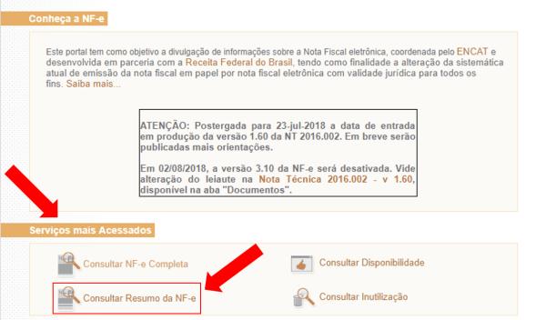 Resumo da NF-e