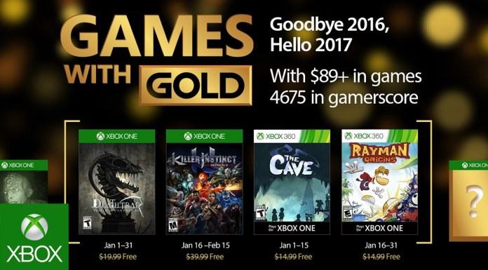 Games with Gold para enero de 2017