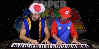 Super Mario Galaxy 2 Final Bowser Battle Piano Dueto por Heyde & Tedesco