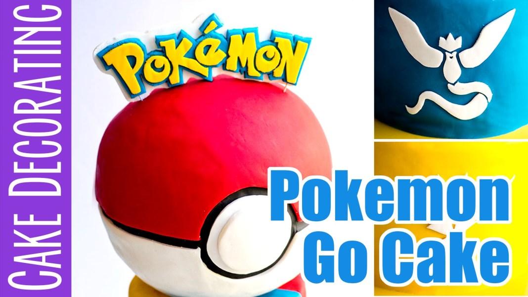 Cómo hacer un pastel de Pokemon Go con logotipos