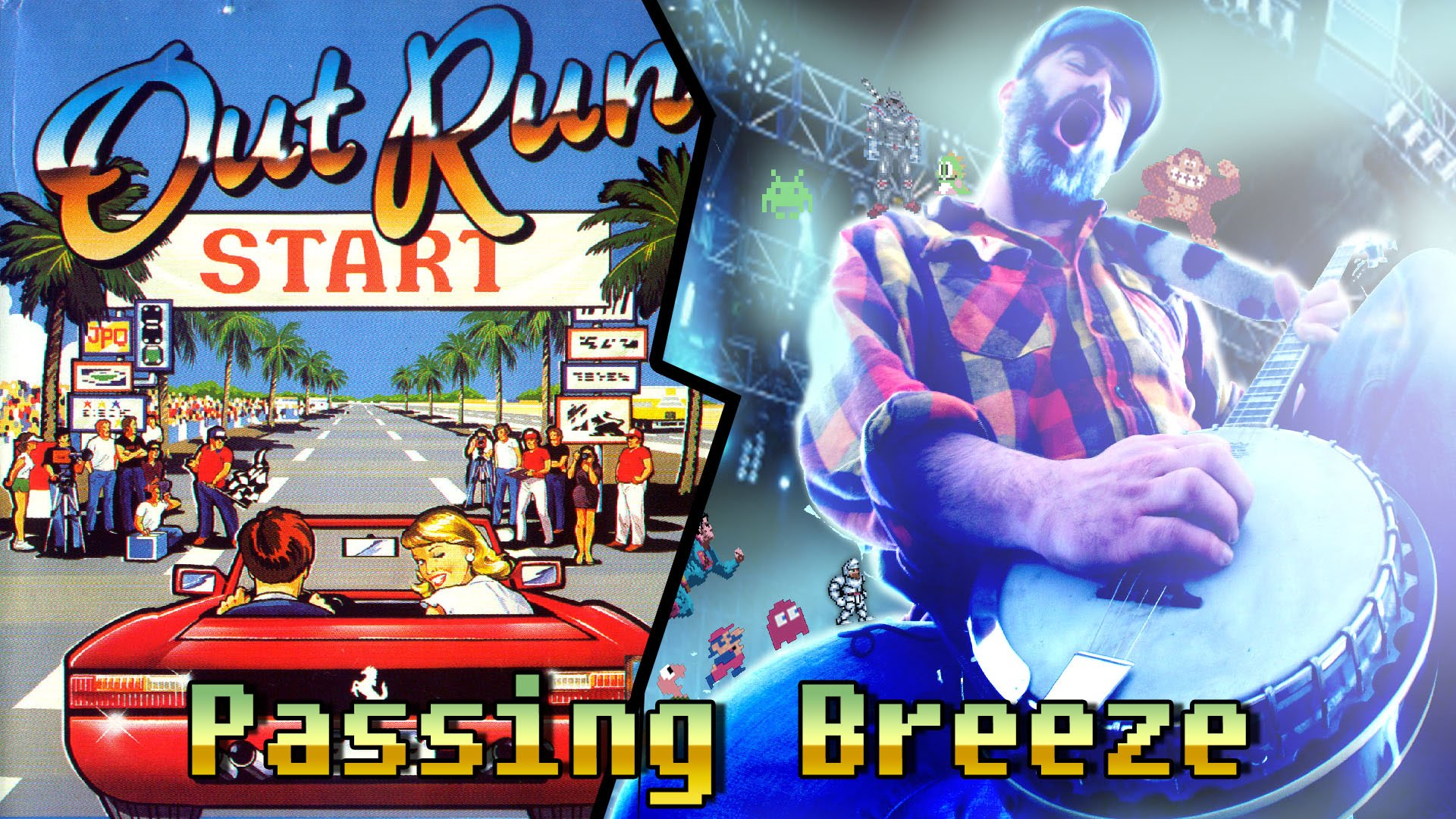 Out Run cover del tema Passing Breeze por Banjo Guy Ollie