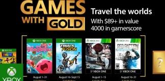 Games with Gold para Agosto de 2017