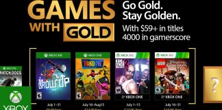 Games with Gold para Julio de 2017