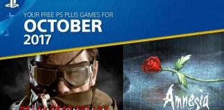 PlayStation Plus del mes de octubre de 2017