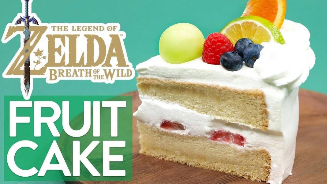 Pastel de frutas al estilo ZELDA Breath of the Wild