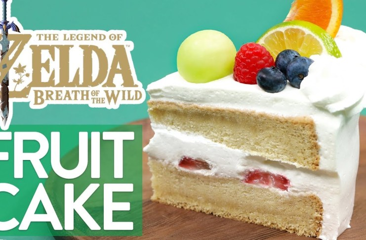 Pastel de frutas al estilo ZELDA Breath of the Wild