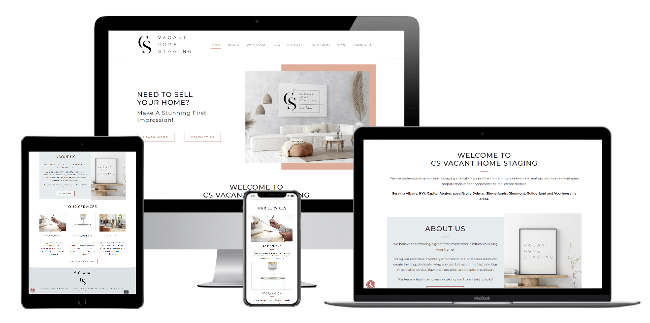CSV Home Staging Web Design Albany NY - Capital District Digital