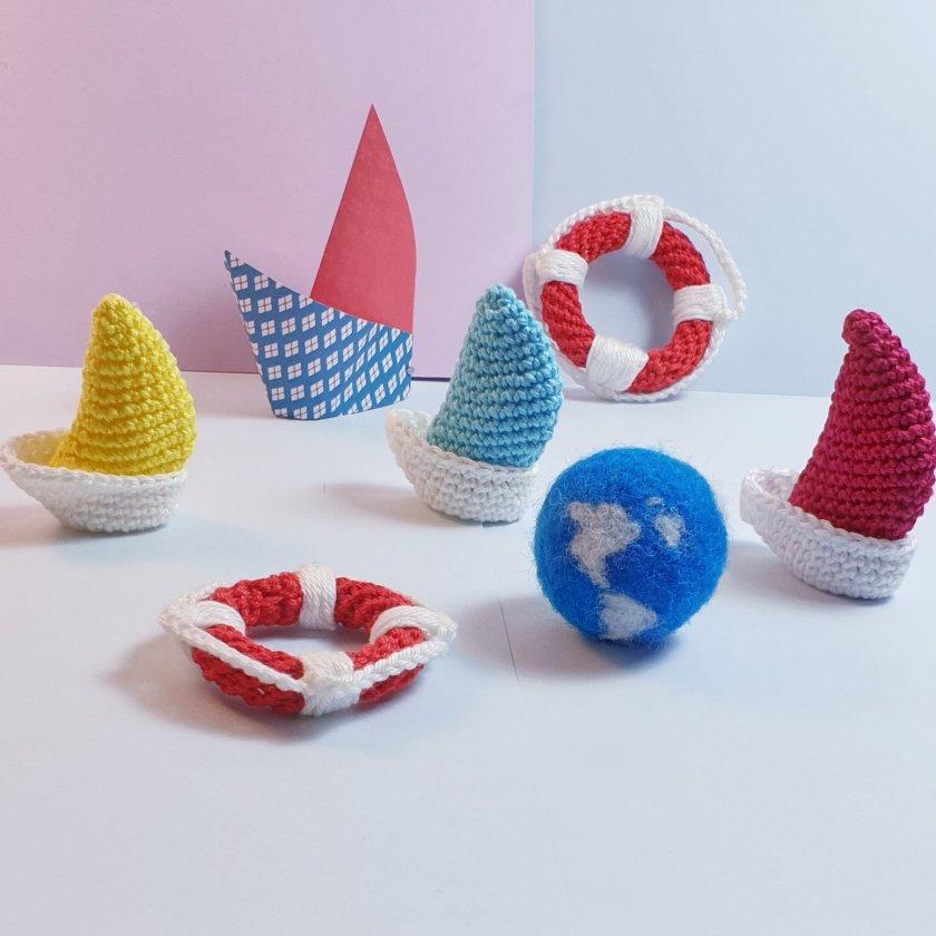 Mini Voilier Sa Bouee Anne Lee Crochet