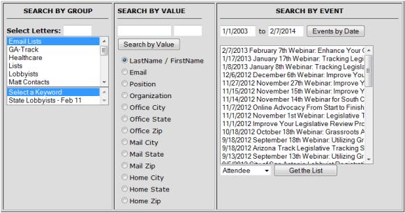Attendee Database