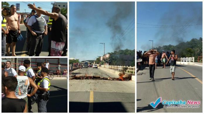 Moradores de Piúma protestam e pedem limpeza da praia