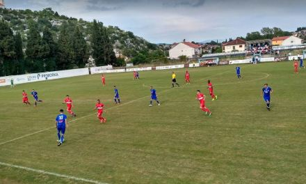 GOŠK vodi protiv Veleža u Gabeli i slavi ulazak u Premier ligu!