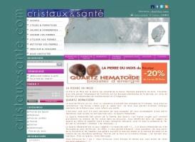 e-boutique Cristaux et santé réalisé en 2009 par cap Médiations.