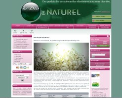 Boutique en ligne lebio.fr, magasin bio et naturel associé au magasin Natur'bio à Saint laurent de la salanque, réalisé en 2009 par Cap Médiations