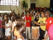 Apresentação de Roda de Capoeira na escola