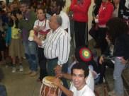 Apresentação de mestre Durval do coco na escola.